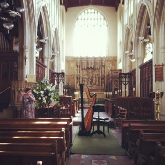 Sharing a recital with my flautist Mum at the gorgeous Holy Trinity Church for the Long Melford Concert Society