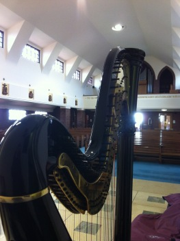 St Peter in Chains, Ardrossan. It was so windy the church doors were rattling!
