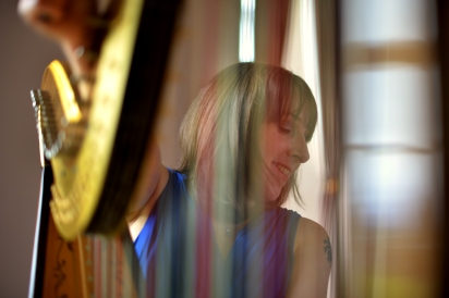 Time for some new profile photos with the new harp - photographer Graeme even managed to get me smiling while I was tuning up!