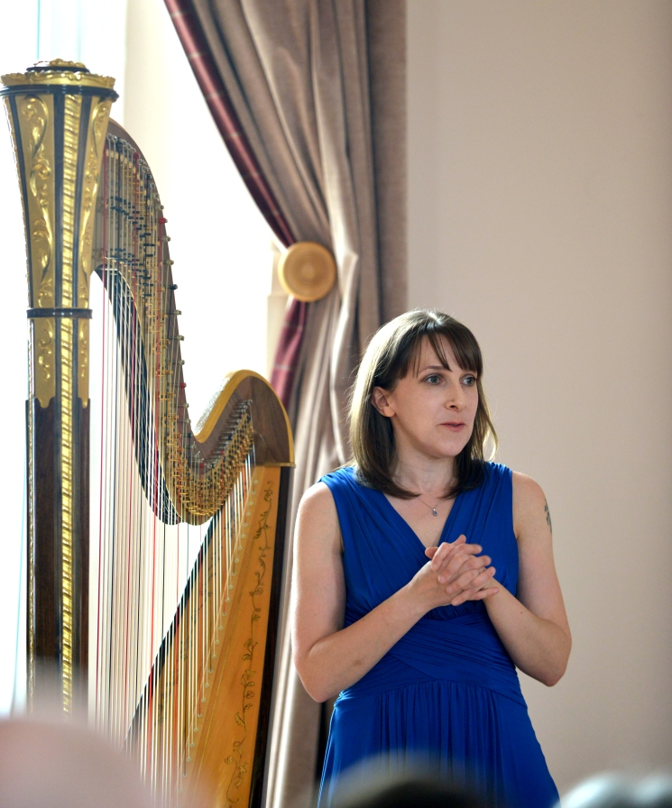 Thanks to Graeme Hewitson of Monument Photography for this picture from my Harp Odyssey concert in March 2015