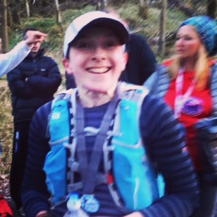 Thanks to Fiona Keating for this picture. I had been on my feet for 14 hours 40 minutes and had just finished running the 2015 Highland Fling, still smiling though!