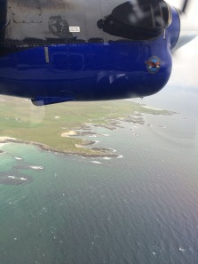 Flying home fom Tiree after a brilliant solo birthday celebration
