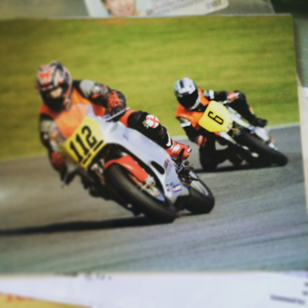 No. 6, on a 583cc Ducati Monster. First ever race, first ever knee down. Clearways at Brands Hatch, April 2007. My least favourite corner. Almost.