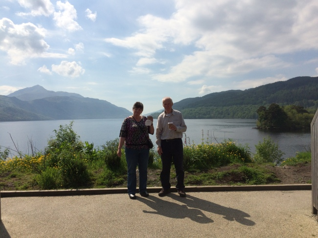 A quick pitstop at Inveruglas on the bonny banks