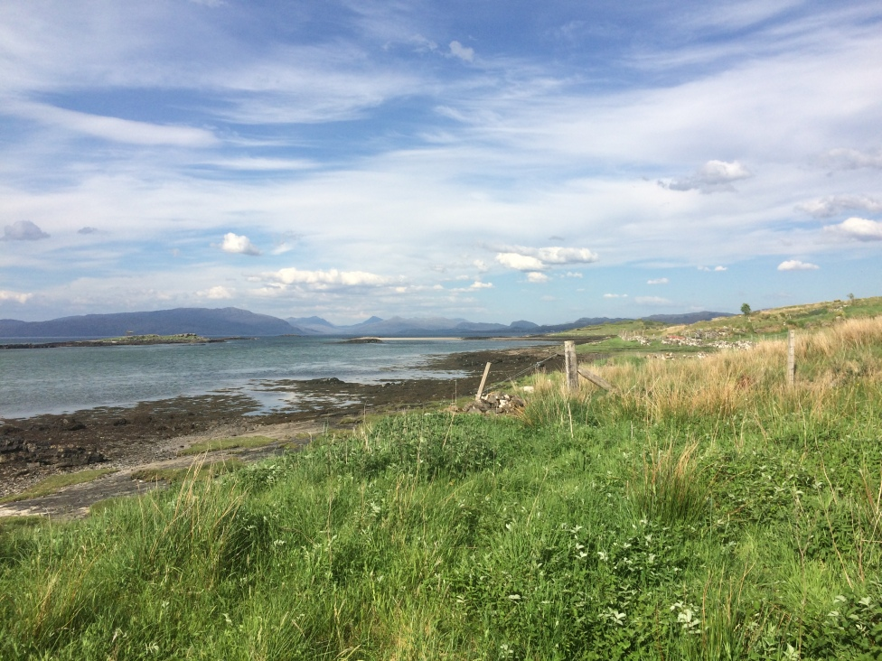 Looking from the croft back to the mainland