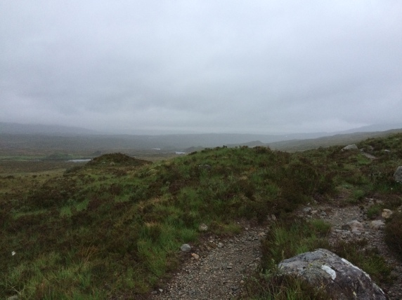 Looking back down the glen towards the hotel, it's there somewhere! (21:36)